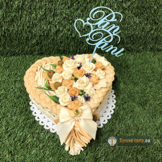 Syrová torta malé srdce