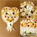Svadobná syrová torta malé srdce s obrúčkami
