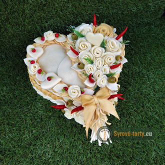 Syrová torta levie srdce