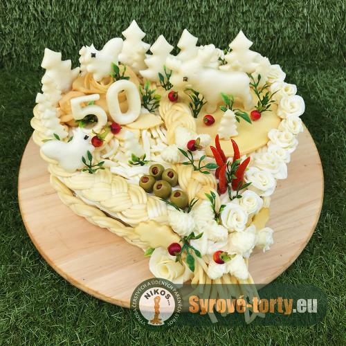 Syrová torta veľké srdce pre Horára
