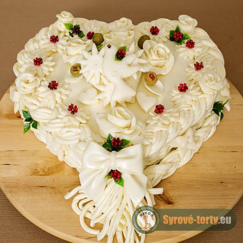 Syrová torta veľké srdce (neúdené)