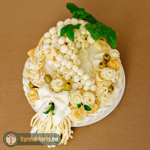 Syrová torta pre vinára