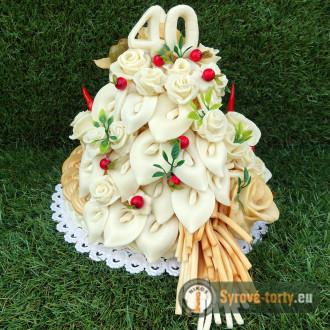 Syrová torta dvojposchodová s kalami