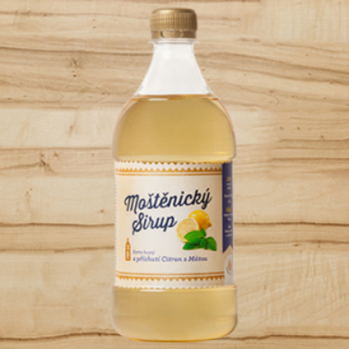 Moštěnický sirup - citrón/mäta extra hustý