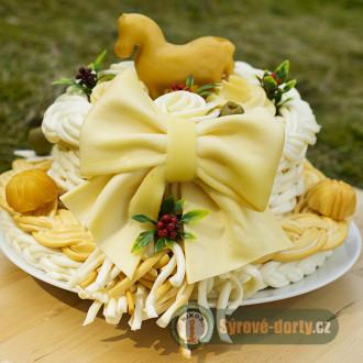 Syrová torta jednoposchodová s koníkom